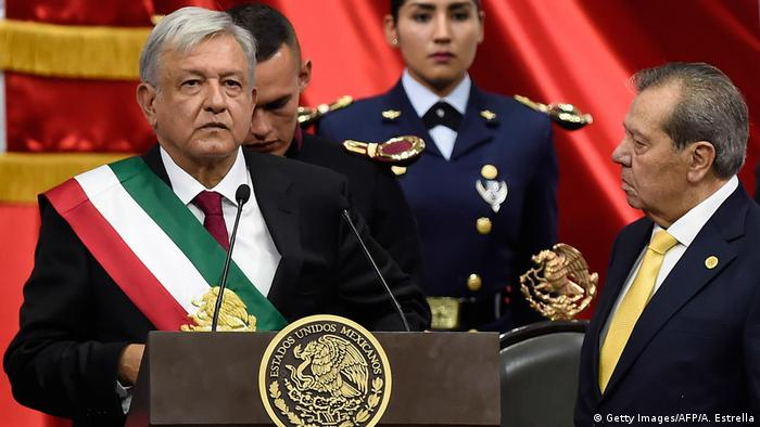 Mexican President Andres Manuel Lopez Obrador is sworn in (Getty Images/AFP/A. Estrella)