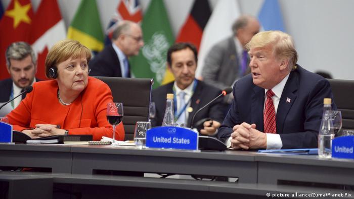 Argentinien G20 Gipfel - Bundeskanzlerin Angela Merkel und US-Präsident Donald Trump