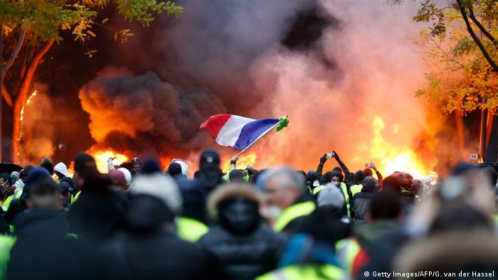 Protestas violentas en París. (Getty Images/AFP/G. van der Hassel)
