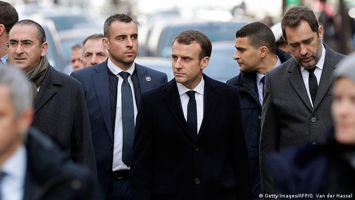 Frankreich Macron nach den Ausschreitungen der Gelbwesten