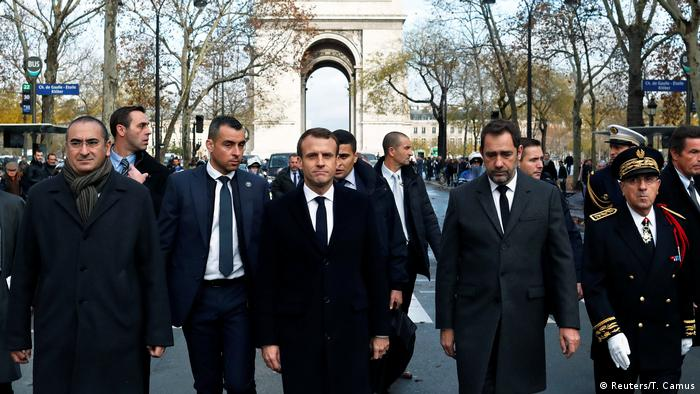 Macron, Castaner and other authorities in Paris