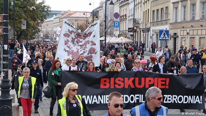 Demonstration gegen Pädophilie in Warschau