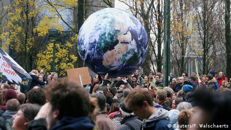 Belgium: demonstration against climate change