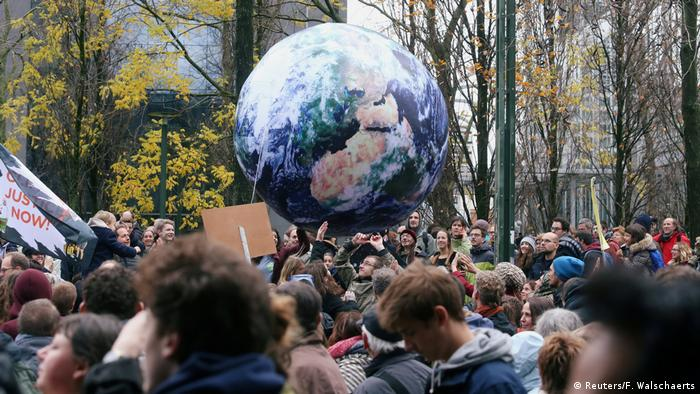 Belgium: demonstration against climate change