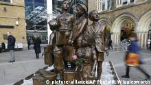 This Thursday, Nov. 21, 2013 photo, shows a rose placed on a sculpture memorial outside Liverpool Street Station in London. The memorial entitled Children of the Kindertransport is to thank the people of Britain for saving the lives of 10,000 children who fled from Nazi persecution in 1938 and 1939. The operation was called Kindertransport - Children¿s Transport - and it was a passage from hell to freedom. Kristallnacht had just rocked Nazi Germany. The pogroms killed dozens of Jews, burned hundreds of synagogues and imprisoned tens of thousands in concentration camps. Many historians see them as the start of Hitler¿s Final Solution. (AP Photo/Kirsty Wigglesworth) |