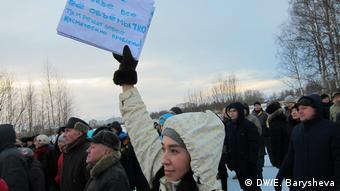 Акция протеста против ввоза мусора из Москвы в Архангельскую область