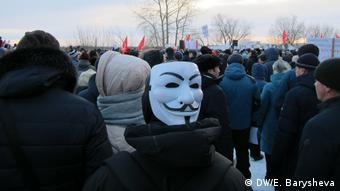 Russland Sewerodwinsk Proteste gegen Müll (DW/E. Barysheva)