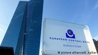 Europa Finanzen l Steuer auf Finanztransaktionen l Europäische Zentralbank in Frankfurt (picture alliance/D. Kalker)