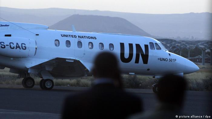 UN flight in Yemen (picture alliance / dpa)