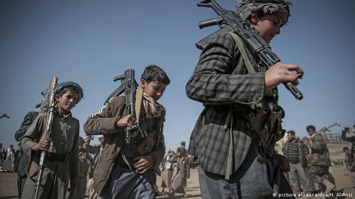 Child soldiers recruited by the Houthis
