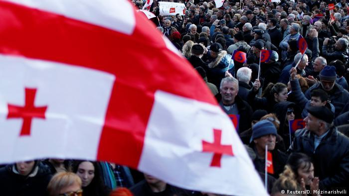 Georgien Protest der Opposition
