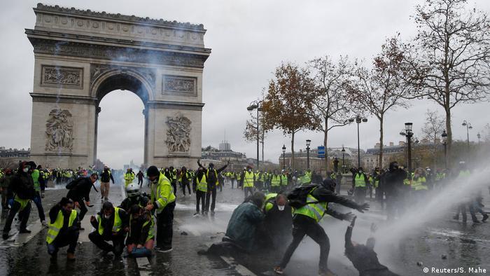 Frankreich: Protest und Vandalismus am Arc de Triomphe