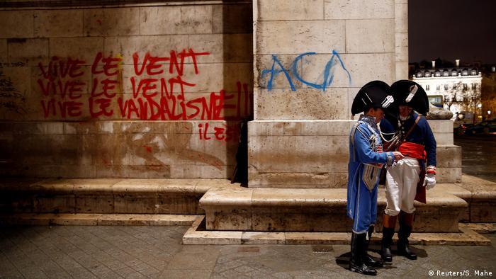 Frankreich Protest Vandalismus Arc de Triomphe (Reuters/S. Mahe)