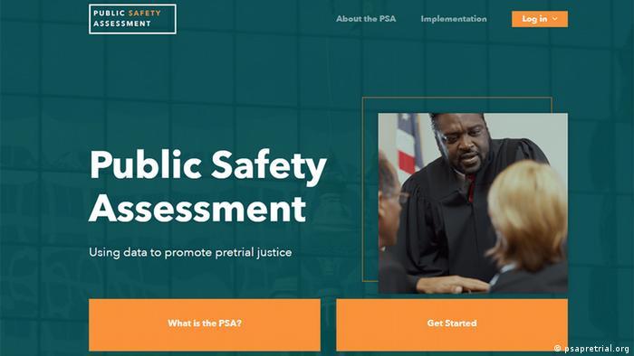 لقطة شاشة PSA لتقييم السلامة العامة (تصوير psapretrial.org)