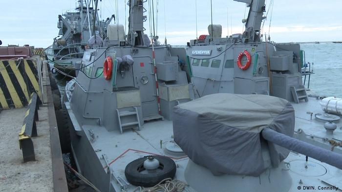 Ukraine Mariupol Artillerieboote (Foto: DW/N. Connolly )