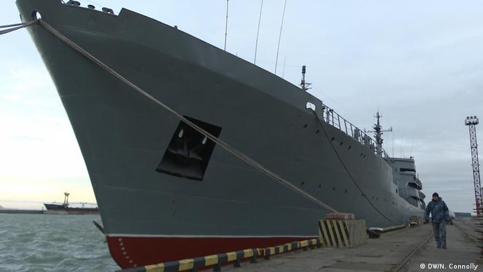 The Donbass docked at Mariupol port, Ukraine