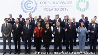 UN-Klimakonferenz 2018 in Katowice, Polen | Gruppenbild (picture-alliance/dpa/Keystone/P. Klaunzer)