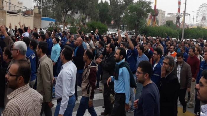 Arbeiter Protest in Ahwaz