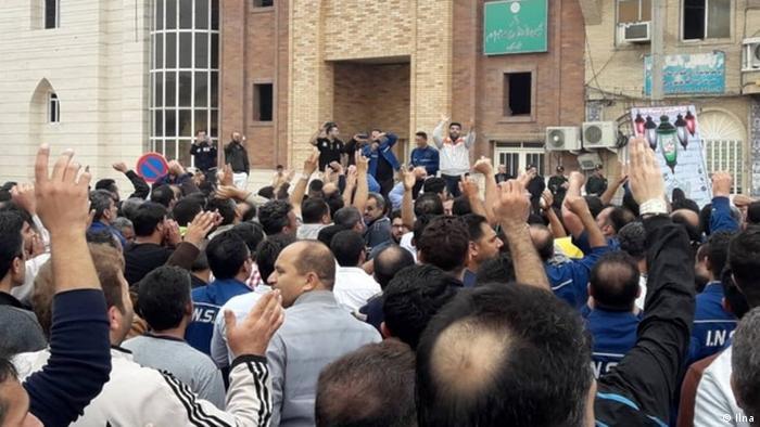 Arbeiter Protest in Ahwaz (Ilna)