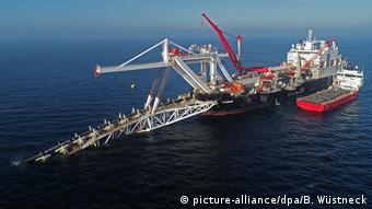 Строительство Северного потока-2 в районе немецкого острова Рюген