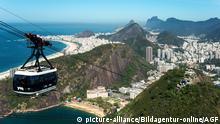 Brasilien Seilbahn am Zuckerhut Berg (Pao De Acucar) in Rio De Janeiro