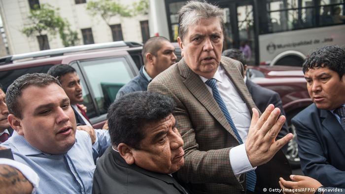 Peru Asylantrag des ehem. Präsidenten Alan Garcia wurde abgelehnt (Getty Images/AFP/A. Benavides)