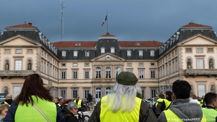 Желтые жилеты на одной из протестных акций