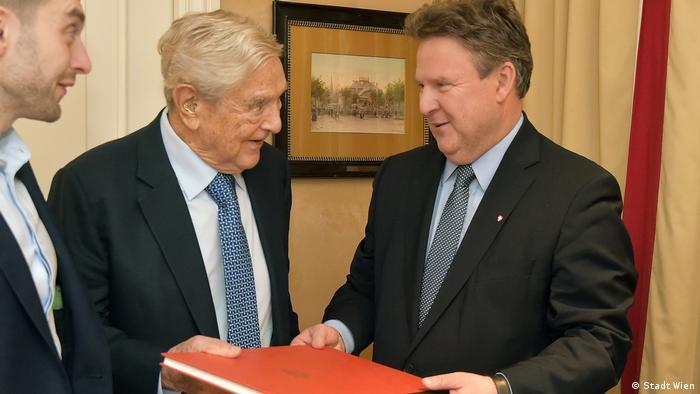 George Soros și primarul Vienei, Michael Ludwig