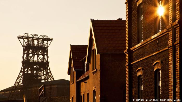 Headframe as a reminder of mining activities in western Germany
