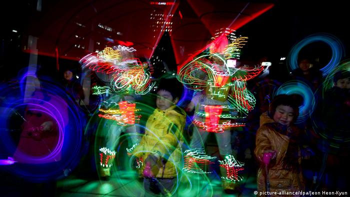 BG Lichtfestivals | First Full Moon Festival (picture-alliance/dpa/Jeon Heon-Kyun)