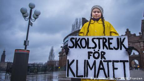 Swedish climate activist Greta Thunberg (picture-alliance/DPR/H. Franzen)