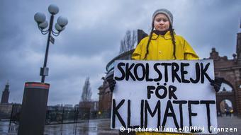 Schweden Greta Thunberg Schulstreik Protest Klimawandel (picture-alliance/DPR/H. Franzen)