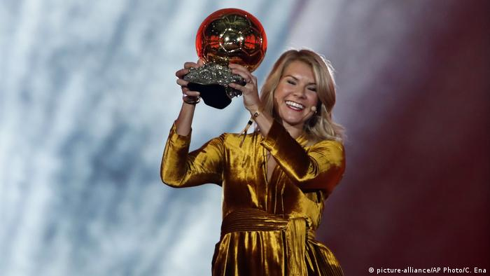 Paris Ballon d'Or winner Ada Hegerberg (picture-alliance/AP Photo/C. Ena)