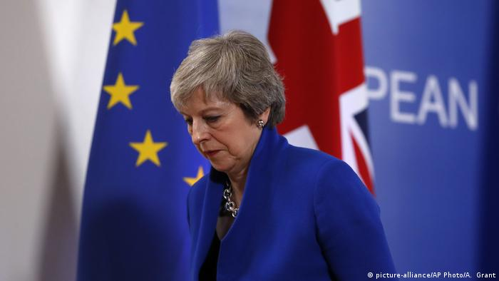 Theresa May in Brussels