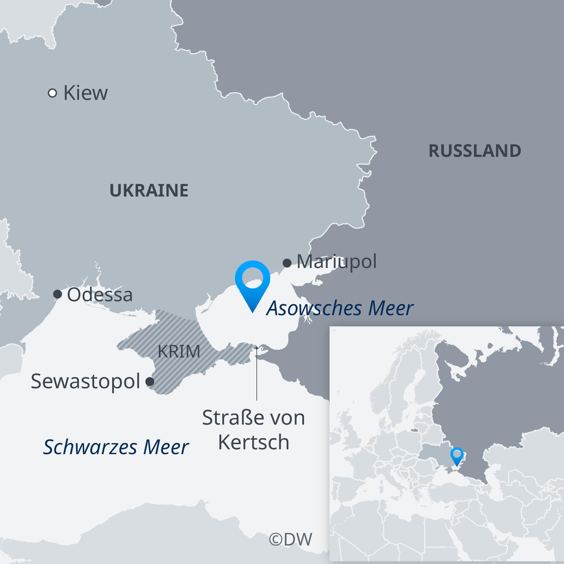 Karte Asowsches Meer Ukraine Russland DE