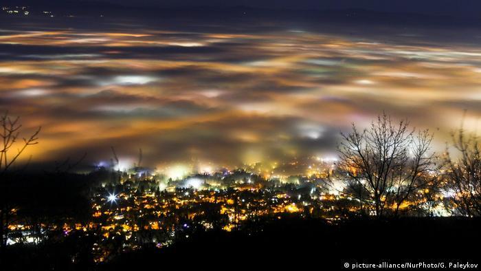 София, погледната от Витоша: скрита под пелена от смог