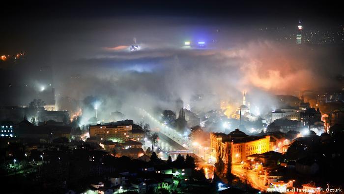 Smog in Sarajevo, Bosnia and Herzegovina