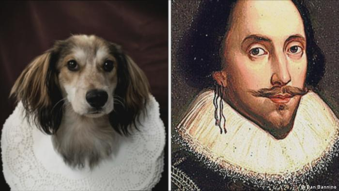 William Shakespeare and a dog (Dan Bannino)