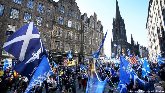 Demonstration in Schottland