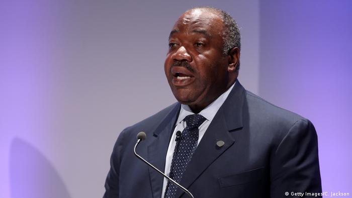 Gabon President Ali Bongo speaks at a 2018 conference (Getty Images/C. Jackson)