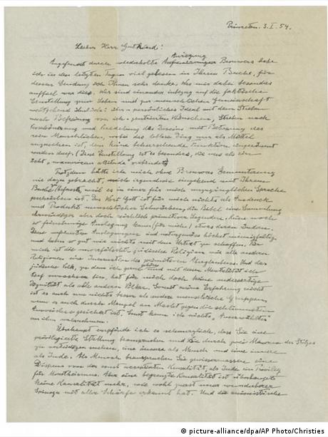 Albert Einstein's God letter