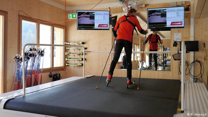 Skilanglauf Training auf dem Laufband