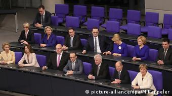 Bundeskabinett Regierungsbank CDU CSU SPD