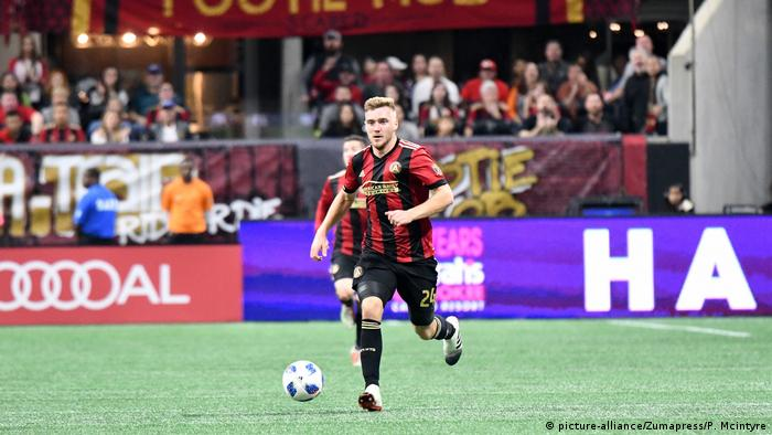 Atlanta, Georgia: Julian Gressel on the ball for Atlanta United in the MLS Eastern Conference Final first leg against the New York Red Bulls; Sunday, November 25, 2018. (picture-alliance/Zumapress/P. Mcintyre)