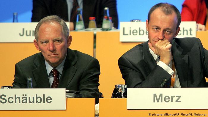 Σόιμπλε και Μερτς σε συνέδριο του 2004