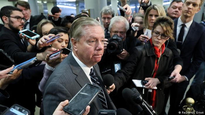 US Senator Lindsey Graham speaks to reporters after a briefing by CIA Director Gina Haspel on the murder of Saudi journalist Jamal Khashoggi (Reuters/J. Ernst)