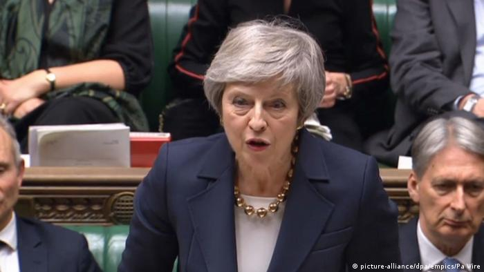Großbritannien   Theresa May im House of Commons (picture-alliance/dpa/empics/Pa Wire)
