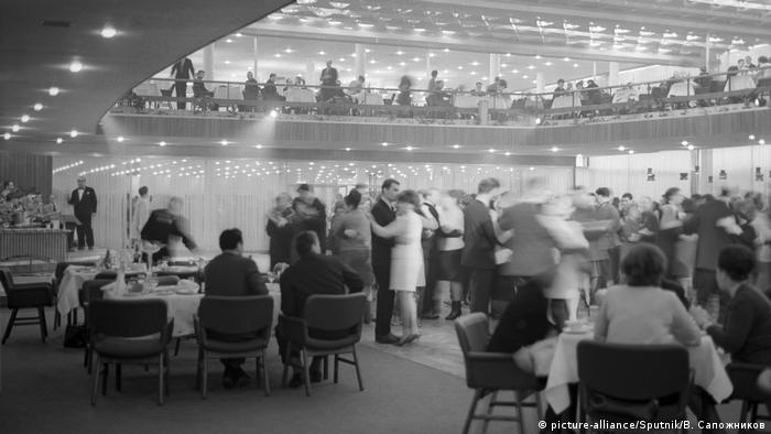 A restaurant in Moscow in the late 1960s