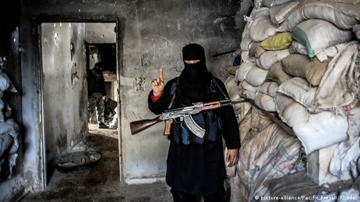 Combatiente de Al Qaeda en Siria.