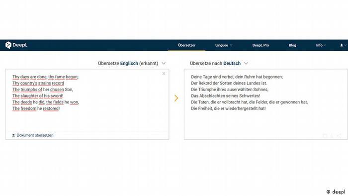 Screenshot deepl Translator (deepl)